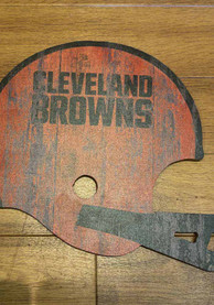 Cleveland Browns Distressed 12in Helmet Sign Sign