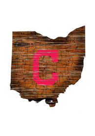 Cleveland Indians 12 Mini Roadmap State Sign Sign