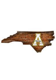 Appalachian State Mountaineers Distressed State 24 Inch Sign