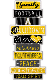 Appalachian State Mountaineers Celebrations Stack 24 Inch Sign