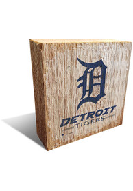 Detroit Tigers Team Logo 6X6 Block Sign