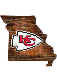 Kansas City Chiefs 12 Mini Roadmap State Sign Sign
