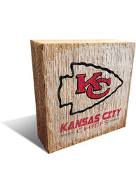 Kansas City Chiefs Team Logo 6X6 Block Sign