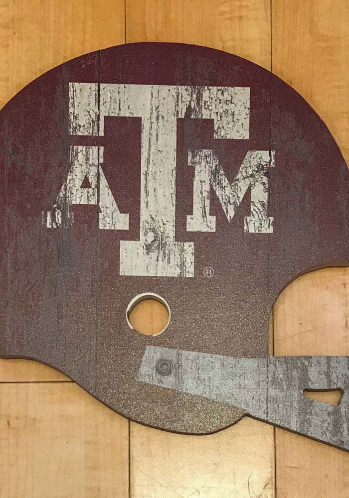 Texas A&M Aggies Distressed 12in Helmet Sign Sign