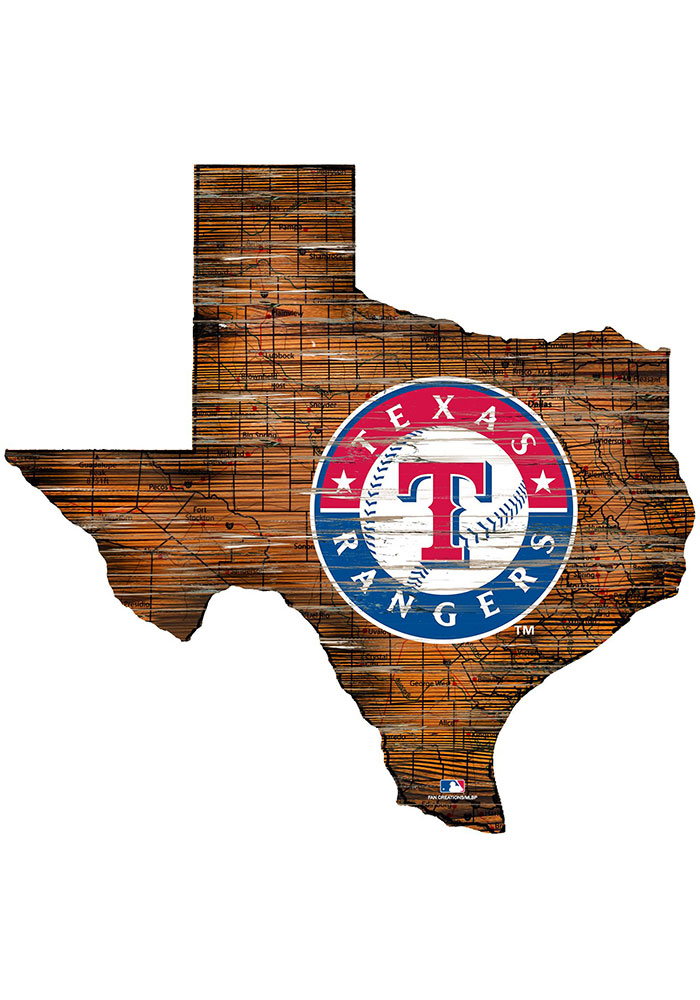 Texas Rangers 12 Mini Roadmap State Sign Sign - Image 1
