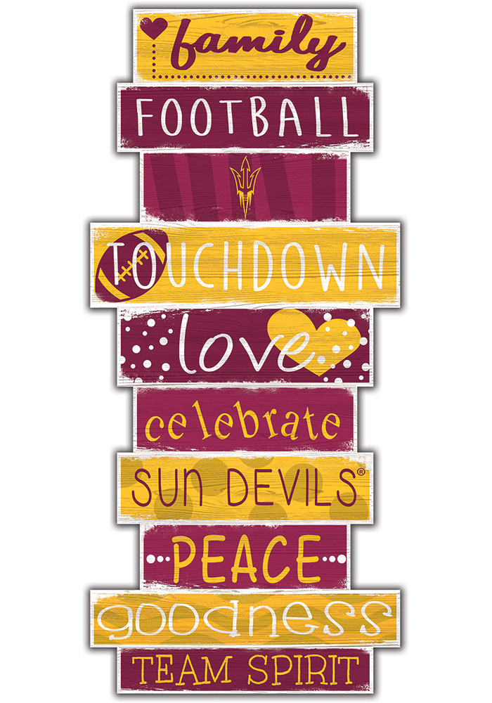 Arizona State Sun Devils Celebrations Stack 24 Inch Sign - Image 1