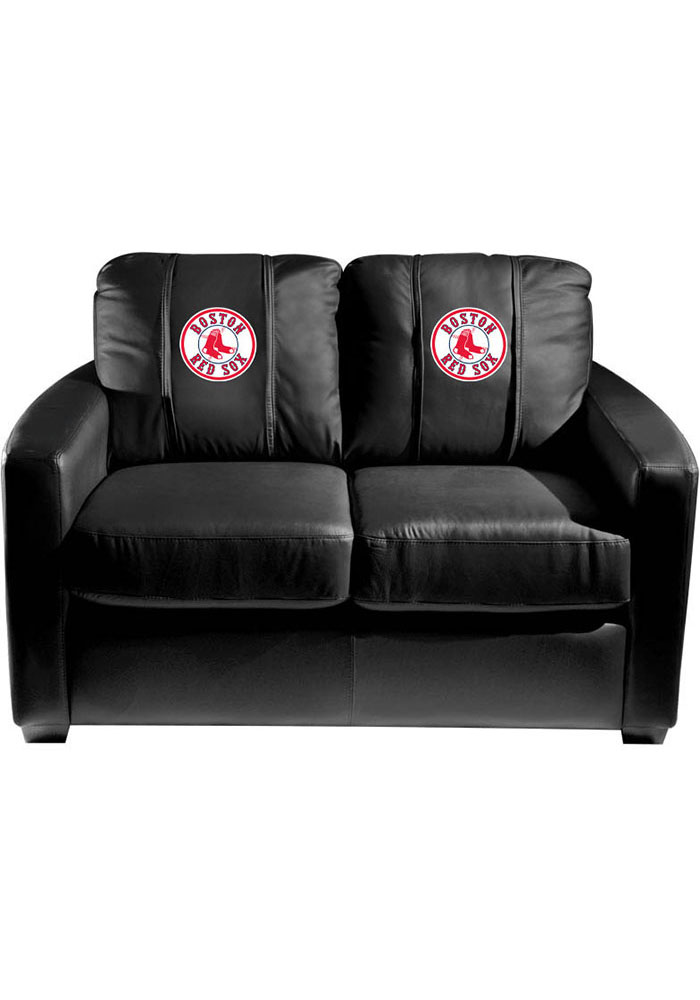 Boston Red Sox Faux Leather Love Seat - Image 1