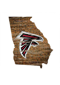 Atlanta Falcons Distressed State 24 Inch Sign