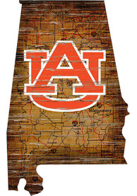 Auburn Tigers Distressed State 24 Inch Sign