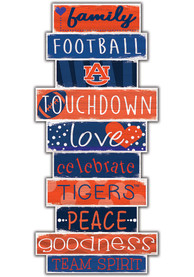 Auburn Tigers Celebrations Stack 24 Inch Sign
