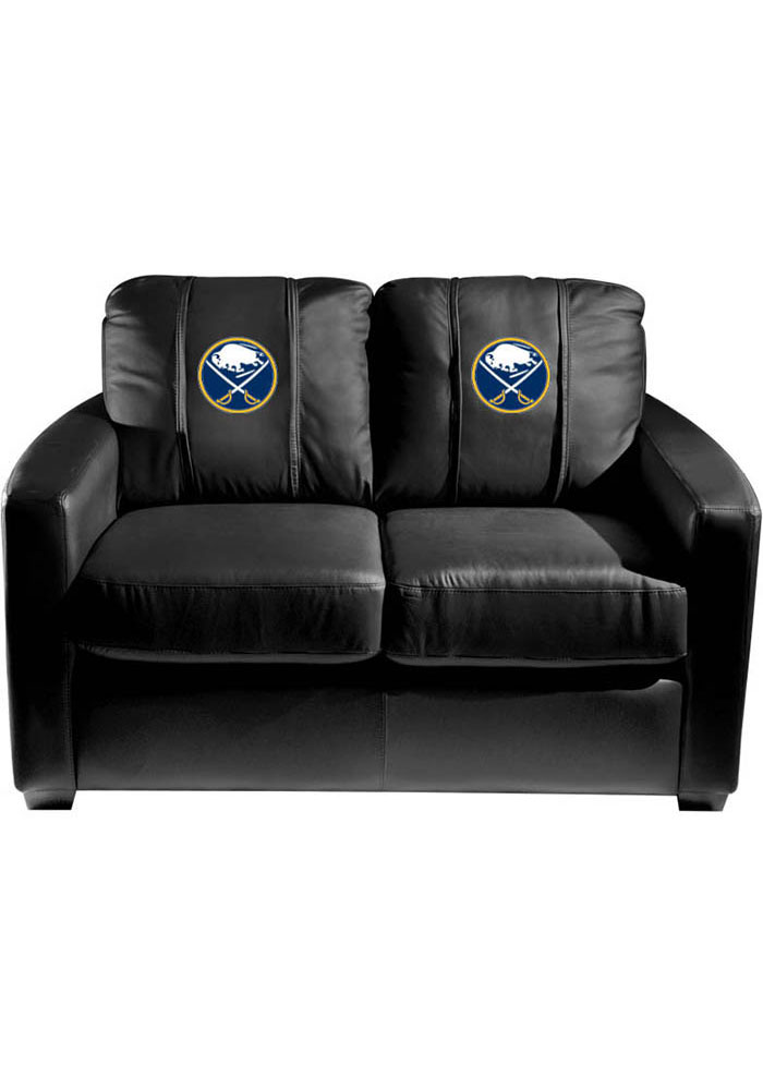Buffalo Sabres Faux Leather Love Seat - Image 1