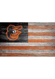 Baltimore Orioles Distressed Flag 11x19 Sign