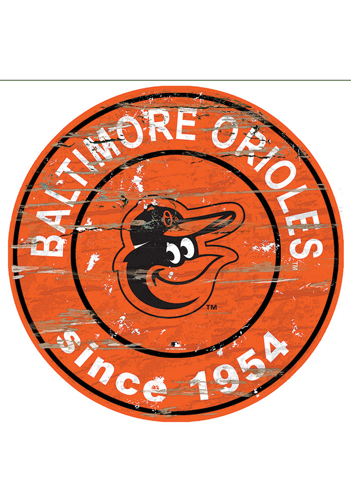 Baltimore Orioles Established Date Circle 24 Inch Sign - Image 1