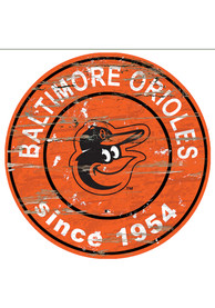 Baltimore Orioles Established Date Circle 24 Inch Sign