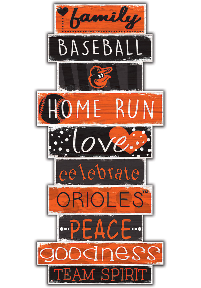 Baltimore Orioles Celebrations Stack 24 Inch Sign - Image 1