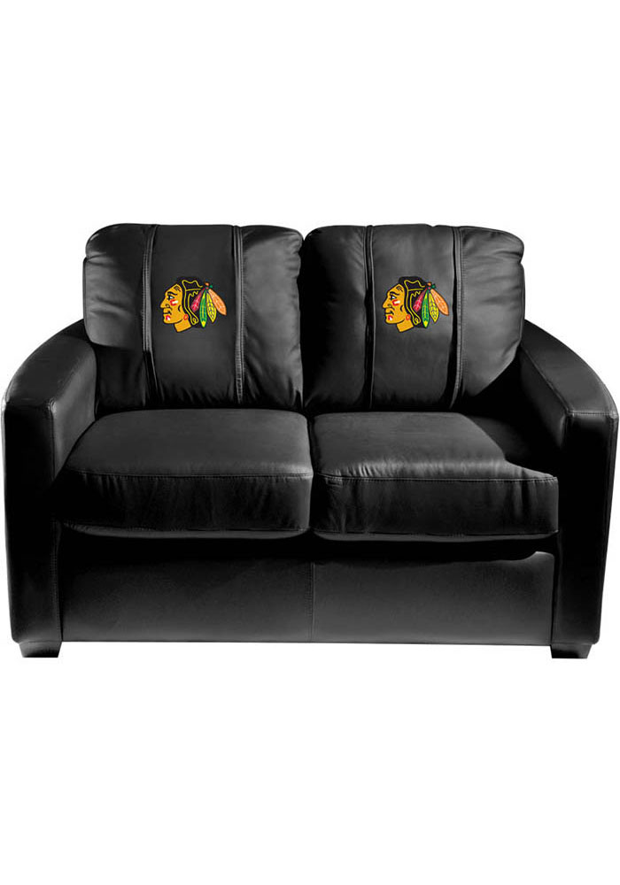 Chicago Blackhawks Faux Leather Love Seat - Image 1