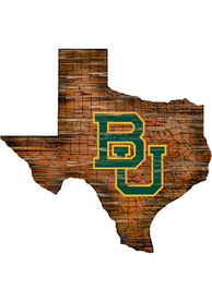 Baylor Bears Distressed State 24 Inch Sign