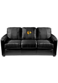 Chicago Blackhawks Faux Leather Sofa