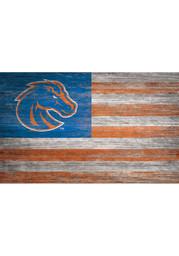 Boise State Broncos Distressed Flag 11x19 Sign