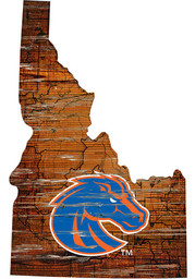 Boise State Broncos Distressed State 24 Inch Sign