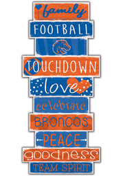 Boise State Broncos Celebrations Stack 24 Inch Sign
