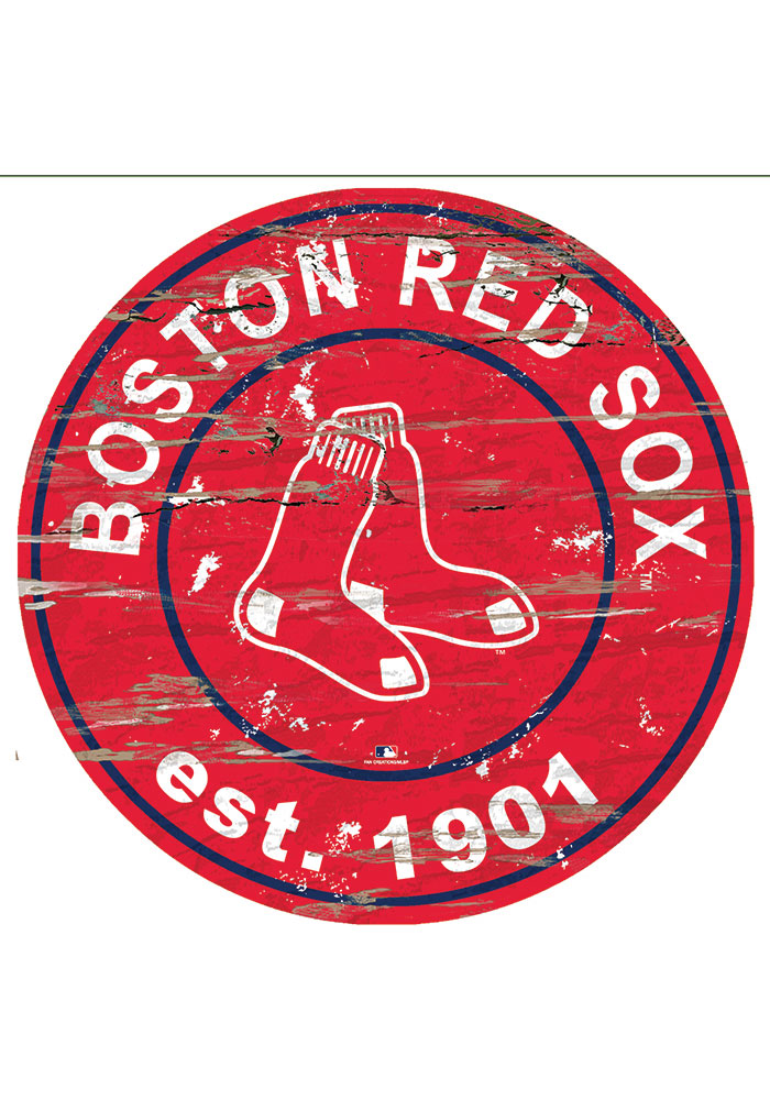 Boston Red Sox Established Date Circle 24 Inch Sign - Image 1