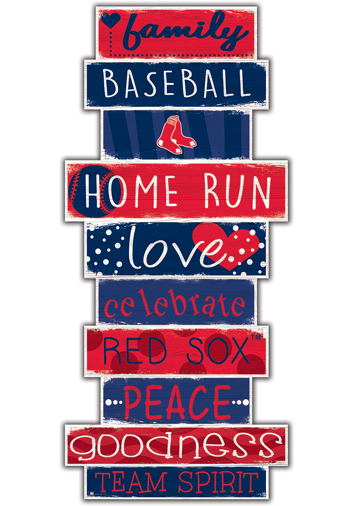 Boston Red Sox Celebrations Stack 24 Inch Sign - Image 1