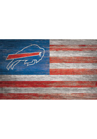 Buffalo Bills Distressed Flag 11x19 Sign