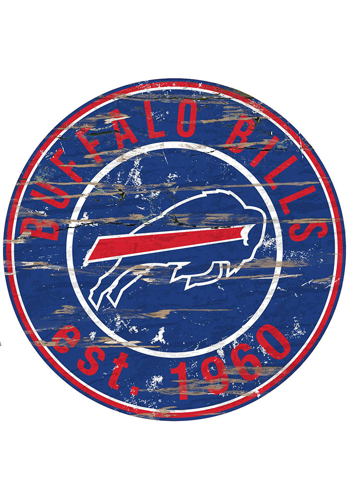 Buffalo Bills Established Date Circle 24 Inch Sign - Image 1