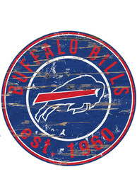 Buffalo Bills Established Date Circle 24 Inch Sign