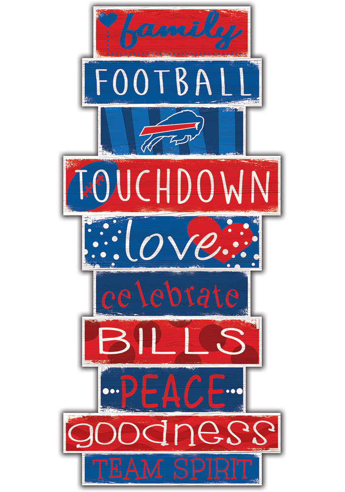 Buffalo Bills Celebrations Stack 24 Inch Sign