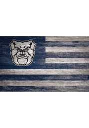 Butler Bulldogs Distressed Flag 11x19 Sign