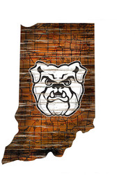 Butler Bulldogs Distressed State 24 Inch Sign