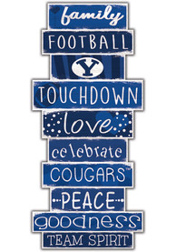 BYU Cougars Celebrations Stack 24 Inch Sign