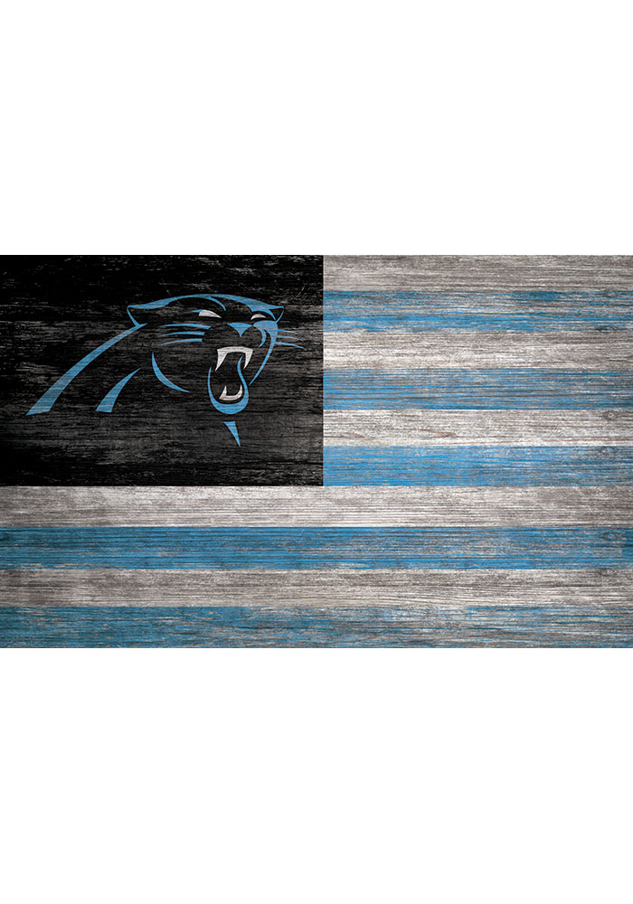 Carolina Panthers Distressed Flag 11x19 Sign - Image 1
