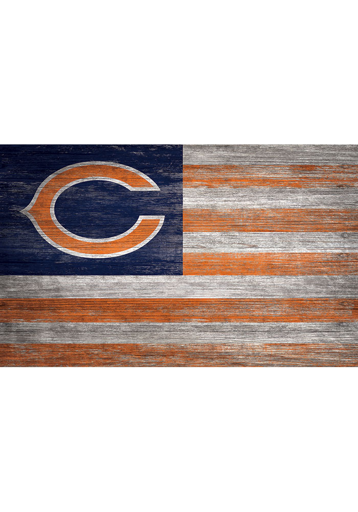 Chicago Bears Distressed Flag 11x19 Sign - Image 1
