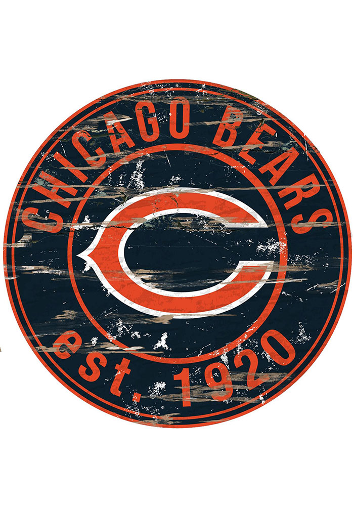 Chicago Bears Established Date Circle 24 Inch Sign - Image 1
