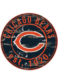 Chicago Bears Established Date Circle 24 Inch Sign