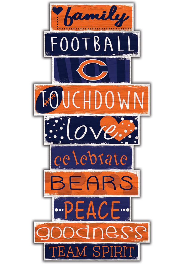 Chicago Bears Celebrations Stack 24 Inch Sign - Image 1