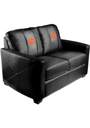 Clemson Tigers Faux Leather Love Seat