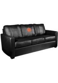 Clemson Tigers Faux Leather Sofa