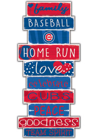Chicago Cubs Celebrations Stack 24 Inch Sign