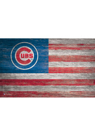 Chicago Cubs Distressed Flag 11x19 Sign