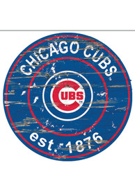 Chicago Cubs Established Date Circle 24 Inch Sign