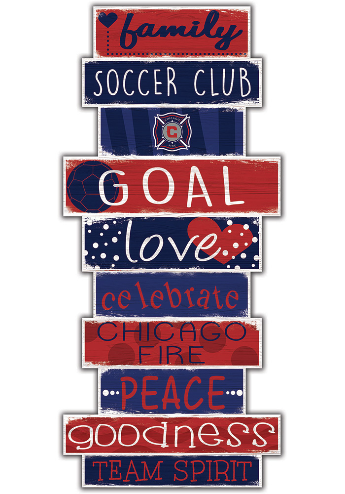 Chicago Fire Celebrations Stack 24 Inch Sign - Image 1