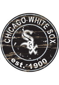 Chicago White Sox Established Date Circle 24 Inch Sign