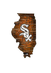 Chicago White Sox Distressed State 24 Inch Sign