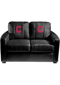 Cleveland Indians Faux Leather Love Seat