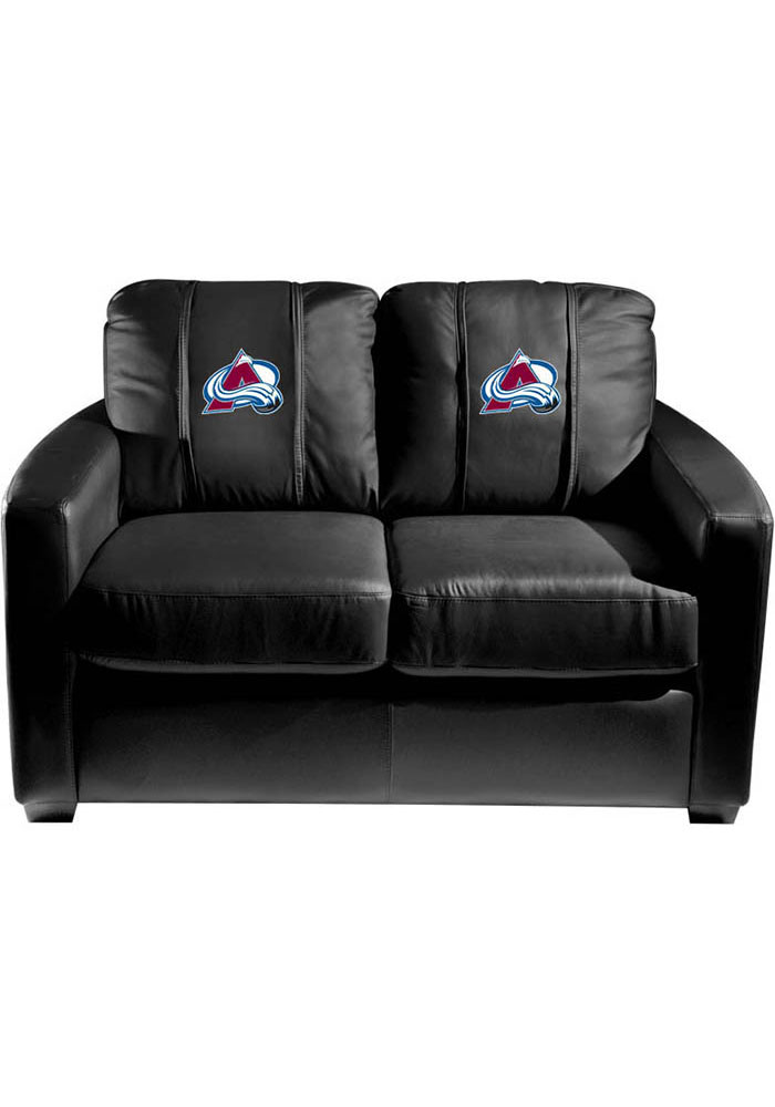 Colorado Avalanche Faux Leather Love Seat - Image 1