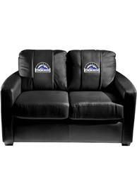 Colorado Rockies Faux Leather Love Seat